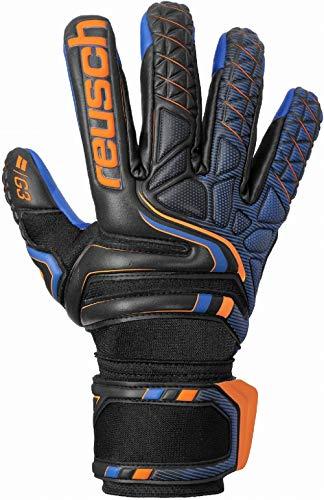 Reusch Attrakt G3 Evolution NC Torwarthandschuh, Black/Shocking orange/deep Blue, 7.5