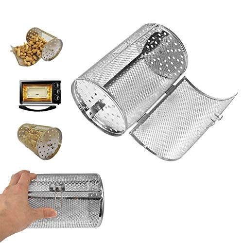 Hztyyier Parrilla para Barbacoa, Canasta de Horno con diseño de rotación de 360 Grados para Cocina al Aire Libre para Adultos