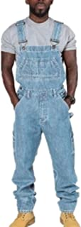 each women Men's Denim Jeans Dungarees Mens Baggy Adjustable Casual Overalls Loose Fit Rompers Jumpsuits