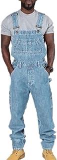 babao Men's Denim Dungarees Mens Jeans Work Bib Vintage Chic Overalls Cargo Baggy Workwear Jumpsuits