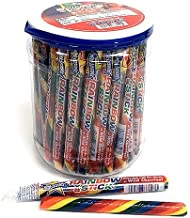 Atkinson Jumbo Rainbow Stick Wild Cherry Candy Sticks - 52 Count Jar