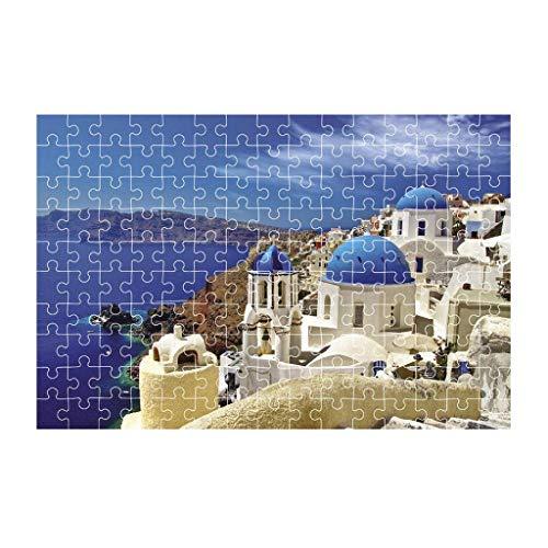 HNLSKJ Rompecabezas para niños de 150 piezas, juego de rompecabezas de inteligencia para niños, juguetes interesantes, grandes y firmas paisajes para niños, regalo de arte (A) ggsm (color: B)
