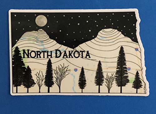 North Dakota Sticker, North Dakota