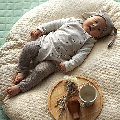 カバーが丸洗いできるイブル風 キルティングクッション クラウド 柄 100×100cm 円形 ベージュ cucan ミルクホーム MILKHOME イブル クッション おしゃれ ベビー せんべい座布団 せんべいクッション お昼寝クッション 洗える 赤ちゃん