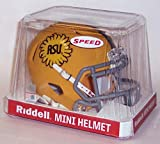 Arizona State Sun Devils 1975 Logo Matte Yellow Riddell Speed Mini Football Helmet - New in Riddell Box