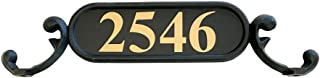 ADDRESSES OF DISTINCTION Charleston Mailbox Address Plate – Mailbox Plaque with Gold Reflective Vinyl House Numbers – Double Sided Address Sign – Rust Proof Aluminum - Hardware Included