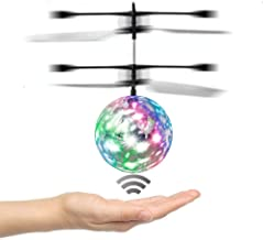 Amazingbuy RC Toys For Children, RC Flying Ball, RC infrared Induction Helicopter Ball with Rainbow Shining LED Lights For Kids, Flying Toy for Boys and Girls (crystal)