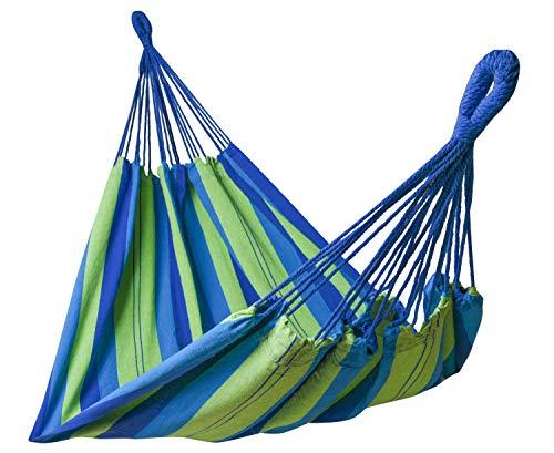 Kronenburg Hängematte Mehrpersonen 210 x 150 cm, Belastbarkeit bis 300 kg - Blau/Grün - Farb- und Modellwahl