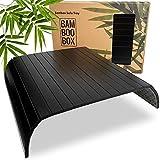 BAM BOO BOX Bandeja de Bambú para Sofá – Posavasos para Reposabrazos para...