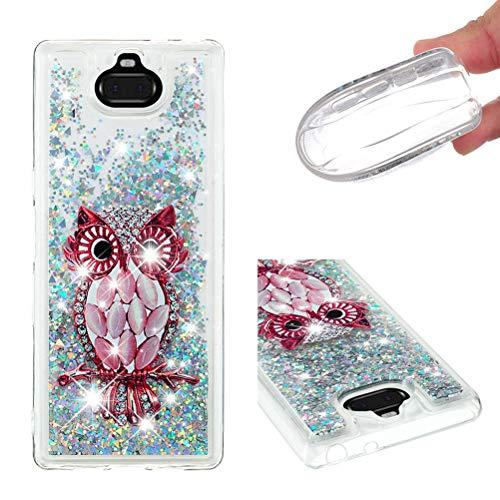 Jieheng Sony Xperia 10 Plus Hülle, Glitzer Bling Bumper Liquid TPU Case Cover 3D Flüssig Treibsand Transparent Silikon Handyhüllen für Handy Hüllen für Sony Xperia 10 Plus