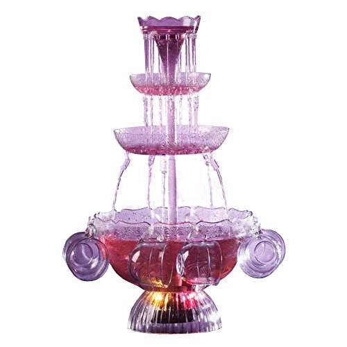 Nostalgia LPF210 Vintage 1-Gallon Collection Lighted Party Fountain with 6 Cups