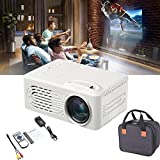 Portable Home Theater Led Projector, HD 1080p and 80'' Display Supported, Compatible with TV Stick, PC, HDMI, USB, AV, Built-in HI-FI Speakers, Enjoys Theater-Like Surround Sound Effects (White) -  QZBX