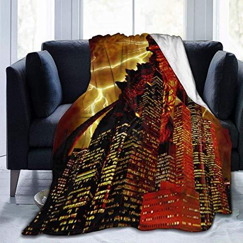 Eileen Powell Die Rückkehr der Godzilla Monster Poster dekorative Decken, waschbar Super gemütliche Qualität Decke 80 * 60in