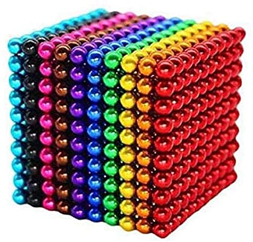 Abcukd M-agnet Balls Fidget Toy, Magnets Hematite M-agnetic Ball Building Blocks, Neat Polished Magnets for Home Office Kids, Refrigerator Or Neat Party Gift (1000 PCS-5millimeter )