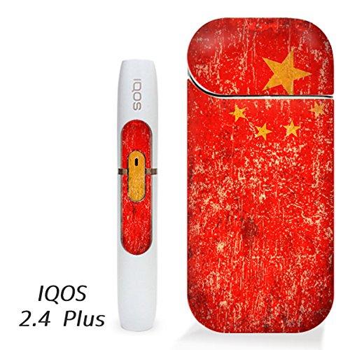アイコス用 スキンシール ( 2.4Plus 用 ) 中国 国旗 (アンティーク) シール ステッカー iQOS用,