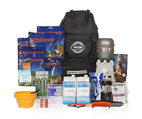 Comfort 2 - Überlebenstasche für 2 Personen - sichert eine Versorgung von 72 Stunden nach einer Katastrophe - mit hochwertigem Equipment, Essen und Trinken