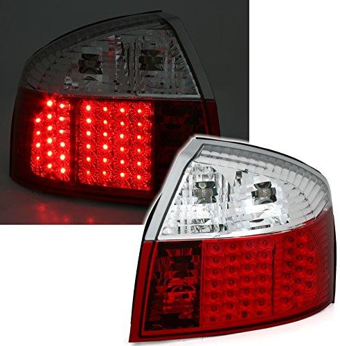 AD Tuning GmbH & Co. KG 960729 LED Rückleuchten Set, Klarglas Rot/Weiss