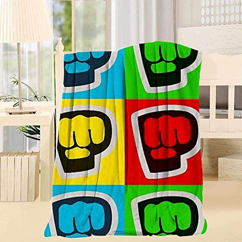 Engshi Mantas para Cama Brofist Super Soft Blanket Throw Fuzzy Lightweight Hypoallergenic Cozy Plush Bed Couch Home