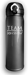 Team Jon Snow - Game of Thrones Final Season Practitioner Thermos 17 Oz Vacuum Flask Stainless Steel Insulated Thermo Bottle for A Hot Or Cold Drink