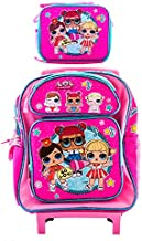 Girls Backpack with Matching LunchBox Travel Picnic Bag GO L.O.L for L.O.L Surprise! Kids (12 Inch Rolling Pink)