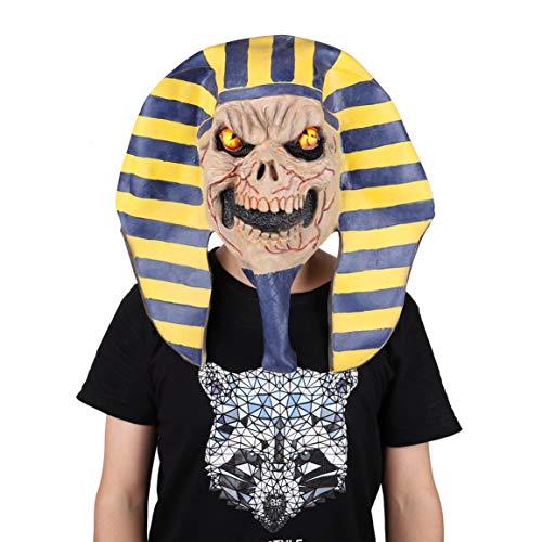 Garciasia Máscara de Halloween Disfraz de terrorista Bola Demonio Máscara de Gas Zombi No Muerto Látex Arnés Fiesta Cultura Máscara Faraón Egipcio