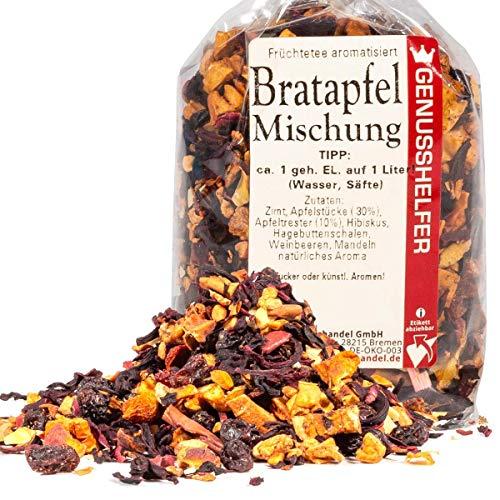 Bratapfel Früchtetee 100 Gramm Bratapfeltee, Teemischung aus Früchten, Loser Tee, ohne Geschmacksverstärker - Bremer Gewürzhandel