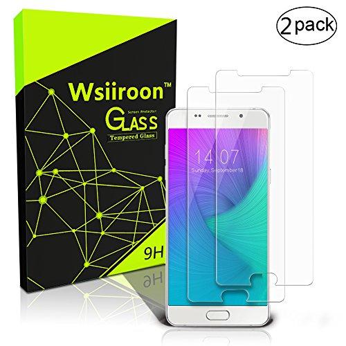 wsiiroon Panzerglas Schutzfolie kompatibel mit Samsung Galaxy A5 2016, [2 Stück] Panzerglasfolie mit 3D Touch Kompatibel-0.33mm, 9H Härte, 99prozent Transparente Schutzglas