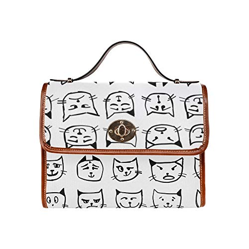 Crossbody Bag Purse Angry Crying Cat Sad Face Women Crossbody Satchel Bag Tote Shoulder Bag Handbags For Girl Lady Travel Work Shopping Best Crossbody Bags