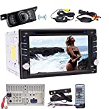 EinCar Double Din Car Radio Bluetooth Stereo System 2 Din DVD Player in Dash 6.2 inch Head Unit CD Player with Car Stereo Receiver USB/SD/Subwoofer/Capacitive Touchscreen Wireless Rear Camera