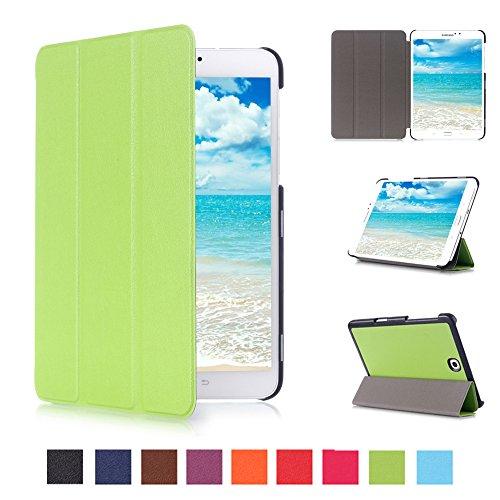 Skytar Samsung Galaxy Tab S2 8.0 LTE Custodia Cover - Ultra Slim Copertura Protezione in PU Pelle Custodia con Supporto Cover per Samsung Galaxy Tab S2 8.0 Pollici T710 / T715 / T719 Tablet,Verde