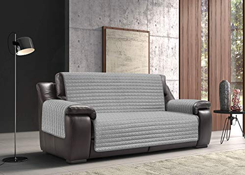 Biancheriaweb - Funda para sofá antimanchas, impermeable, acolchada, modelo Olimpo, color gris