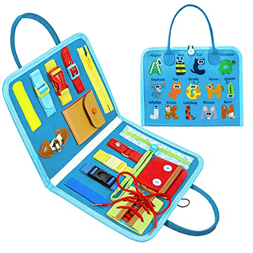 Toddler Toys, Busy Board Age 1 2 3 4, Montessori Sensory Learning Education Toys for Boys Girls...