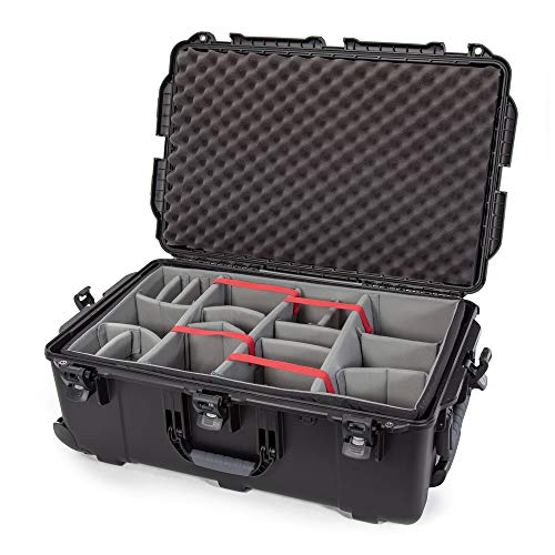 Nanuk 963 Waterproof Hard Case with Wheels and Padded Divider - Black