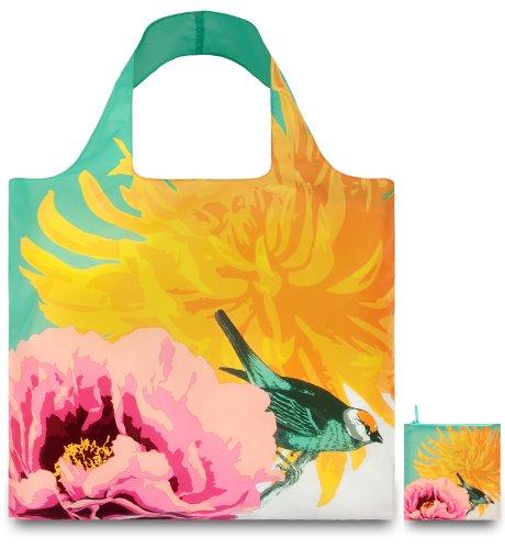 LOQI BO.BI Shopping Bag with Botany Bird Design