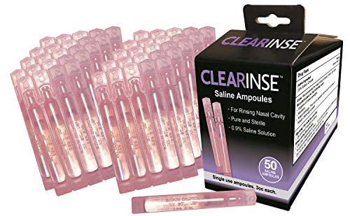 CLEARinse 50 Piece Nasal Cleaning System Saline Ampoules