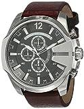 Diesel Men's Mega Chief Quartz Leather Chronograph Watch, Color: Brown (Model: DZ4290)