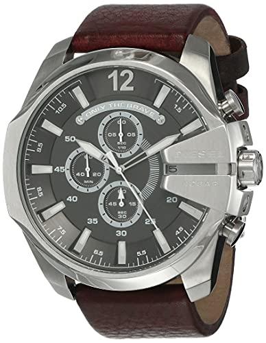 Diesel Reloj Cronógrafo para Hombre de Cuarzo con Correa en Piel DZ4290