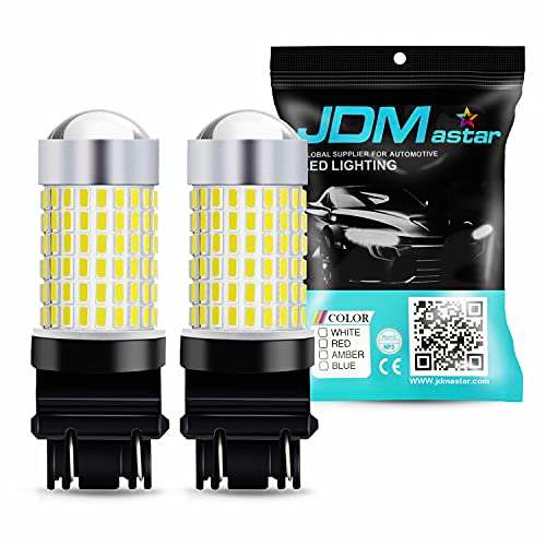 JDM ASTAR Extremely Bright 144-EX Chipsets 3056 3156 3057 3157 LED Bulbs with Projector for Backup...