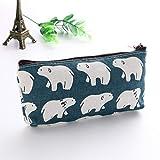 SAGIUSDM Travel Cosmetic Bag Sac de toilette pourfemme Maquillage Toile Floral Hérisson Hérisson...