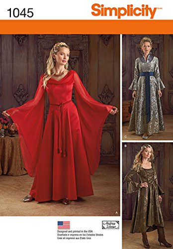 Simplicity Women's Fantasy Dress Halloween, Cosplay, and Ren Faire Sewing Patterns, Sizes 14-20