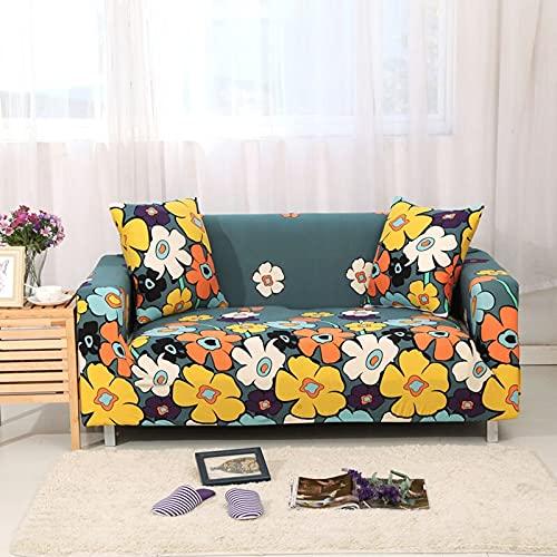 PPOS Funda de sofá elástica Funda de sofá Universal Suave Funda de sofá para decoración de Sala de Estar Funda de sofá Caliente Estilo Decoración para el hogar A1 1 Asiento 90-140cm-1pc
