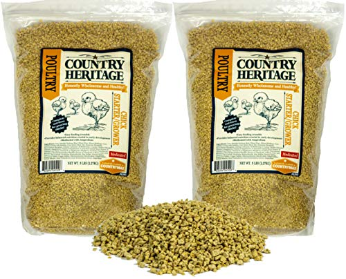 Country Heritage Medicated Chick Starter/Grower Crumbled Feed 10 Pounds