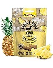 GimDog Train & Treat Adult – jagnięcina z ananasem – smakołyki bez zbożu o niskiej zawartości tłuszczu jako idealna przekąska treningowa – 1 worek (1 x 125 g)