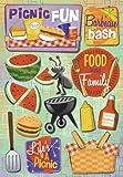 KAREN FOSTER Design Acid and Lignin Free Scrapbooking Sticker Sheet, Picnic Fun