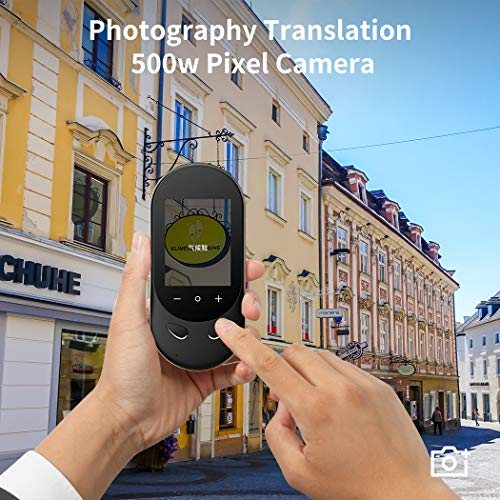 Language Translator Device Offline Translator Device Two Way Instant Voice Translator Audio Memo Recording Translation Support 106 Languages Travelling Learning Shopping Business Chat Shopping Black Photo #2