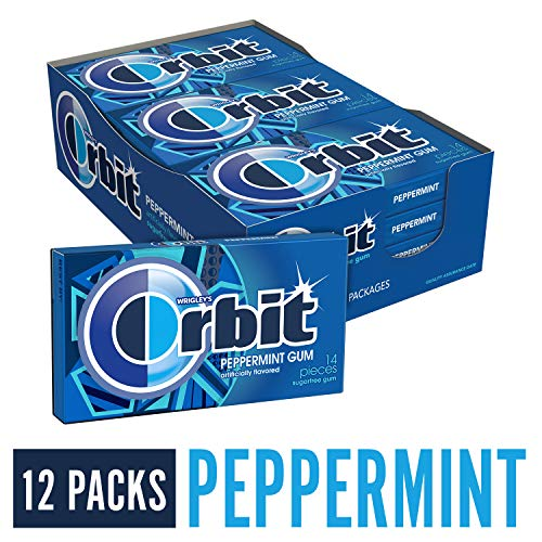 Orbit Gum Wrigley's, Peppermint, 14 Count, (Pack of 12)