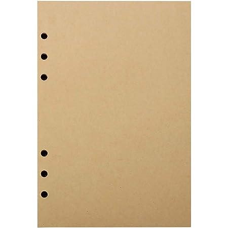 Recharge Toplive 6 trous Papier /à lettres en vrac Papier A5 135 feuilles Papier A5, 3 paquets pour cahier /à 6 anneaux 270 pages papier ligne