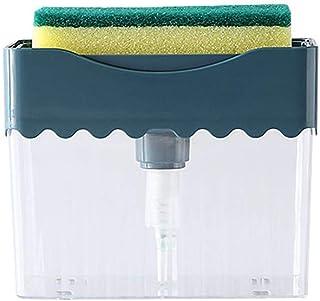 Mein HERZ Tvåldispenser, uppsättning med flytande tvål, skummande krom plast elegant handpumpdispenser med svampkorg organ...