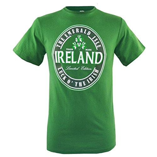 Traditionelle Craft Smaragd Grün Luck O 'Irish Irland T-Shirt - smaragdgrün, XL