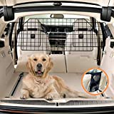 COLETA Dog Car Barrier for SUVs & Vehicles. Adjustable Large Pet Barrier with Bonus Guard Mesh for Full Coverage. Heavy-Duty, Universal-Fit Easy Install-Removal Divider for Pet Car Safety